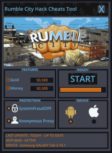 Rumble City Hack Tool Unlimited gold  Unlimited money