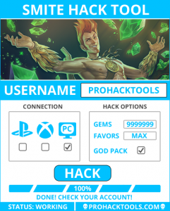 SMITE HACK TOOL STATUS: WORKING Form: 1.0