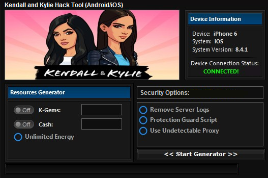 Kendall and kylie hack cheats