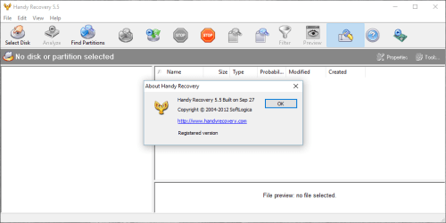 Handy Recovery 5.5 Full Crack + Serial Number