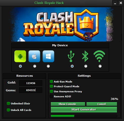 Clash Royale Hack Tool – Unlimited Free Gems and Gold