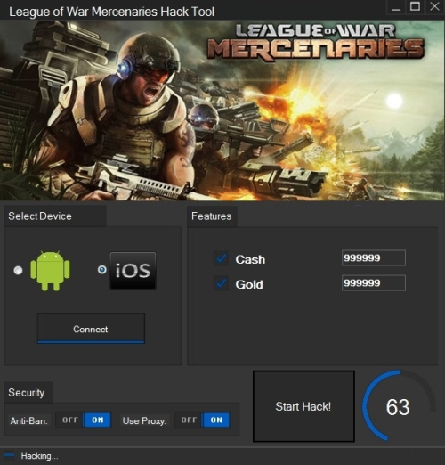 League of War Mercenaries Hack (MOD, Unlimited forces) Apk