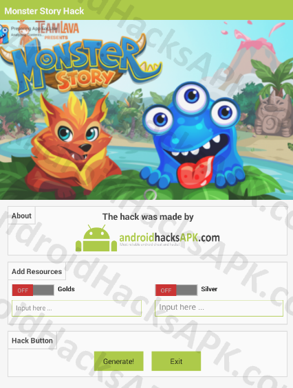 Monster Story Hack APK Golds and Silver