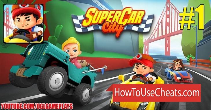 SuperCar City how to use Cheat Codes and Hack Coins and Gems
