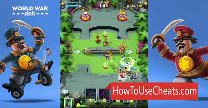 World War Doh how to use Cheat Codes and Hack Potion and Experience