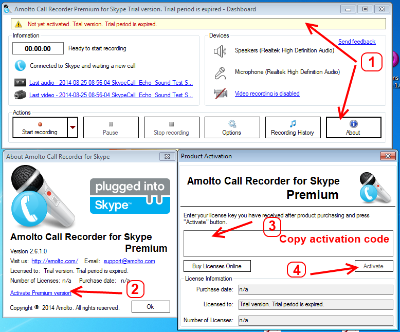 Amolto Call Recorder Premium for Skype Crack Free