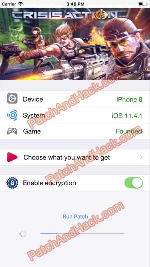 Crisis Action Hack - patch and cheats for Crystals,diamonds and other stuff on Anroid and iOS