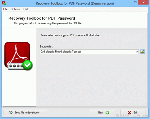 Recovery Toolbox for PDF Password 2.0.0.0 Crack With Keygen
