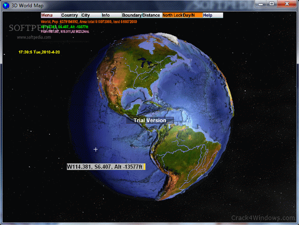 3D World Map 2.1 Crack & Keygen