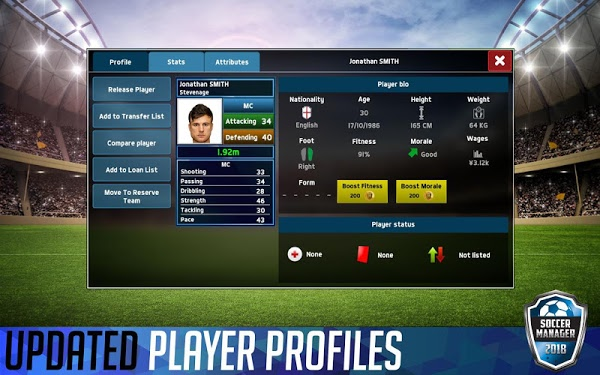 Soccer Manager 2018 MOD Money/Coins
