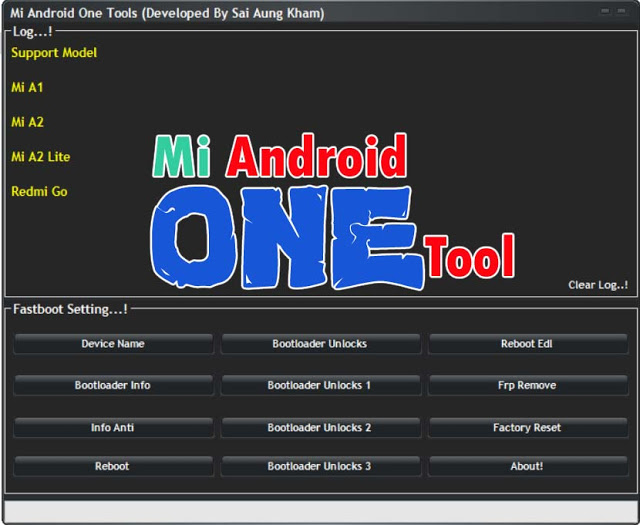 Mi Android One Tools For BootLodar Unlocks, Frp Remove, Factory Reset
