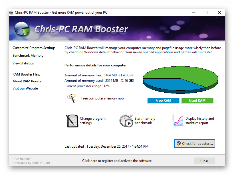 ChrisPC RAM Booster 5.14.14 With Crack