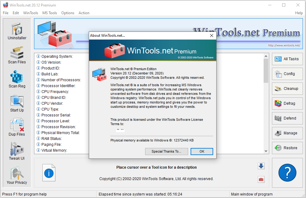 WinTools net Premium v20 12 Multilingual Portable